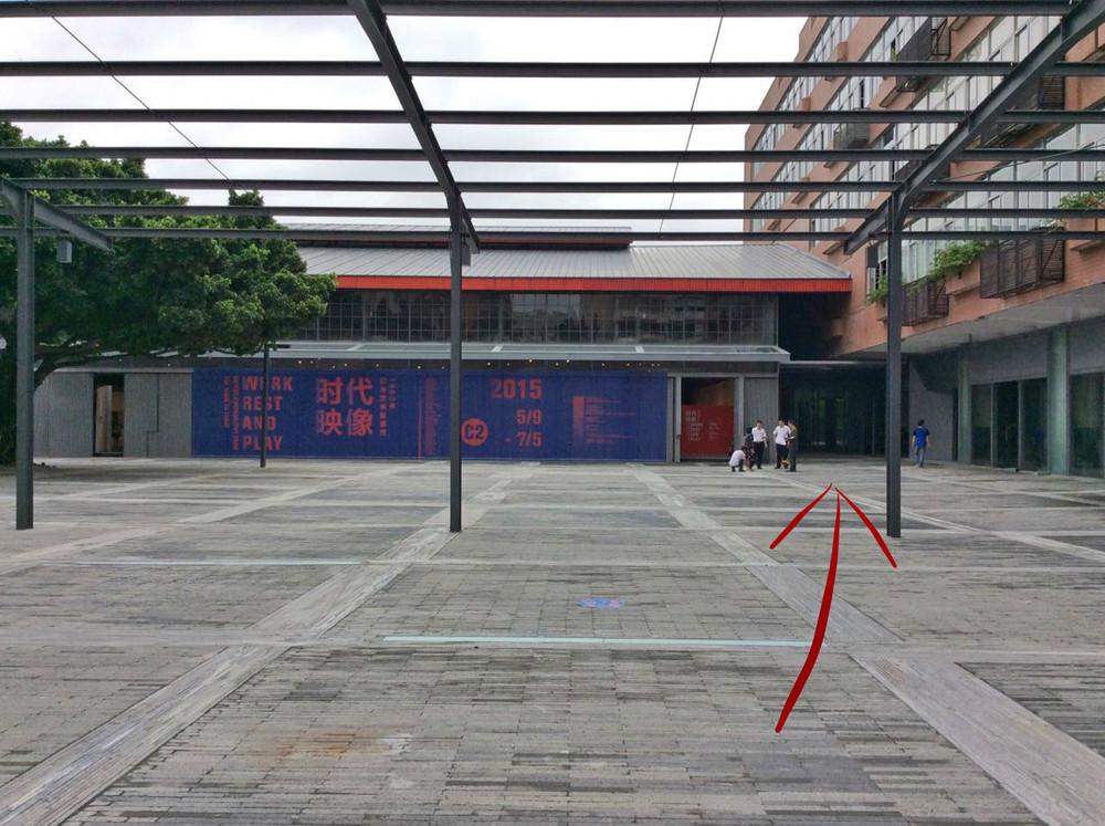 ▲右转后,进入C2展厅右边小走廊