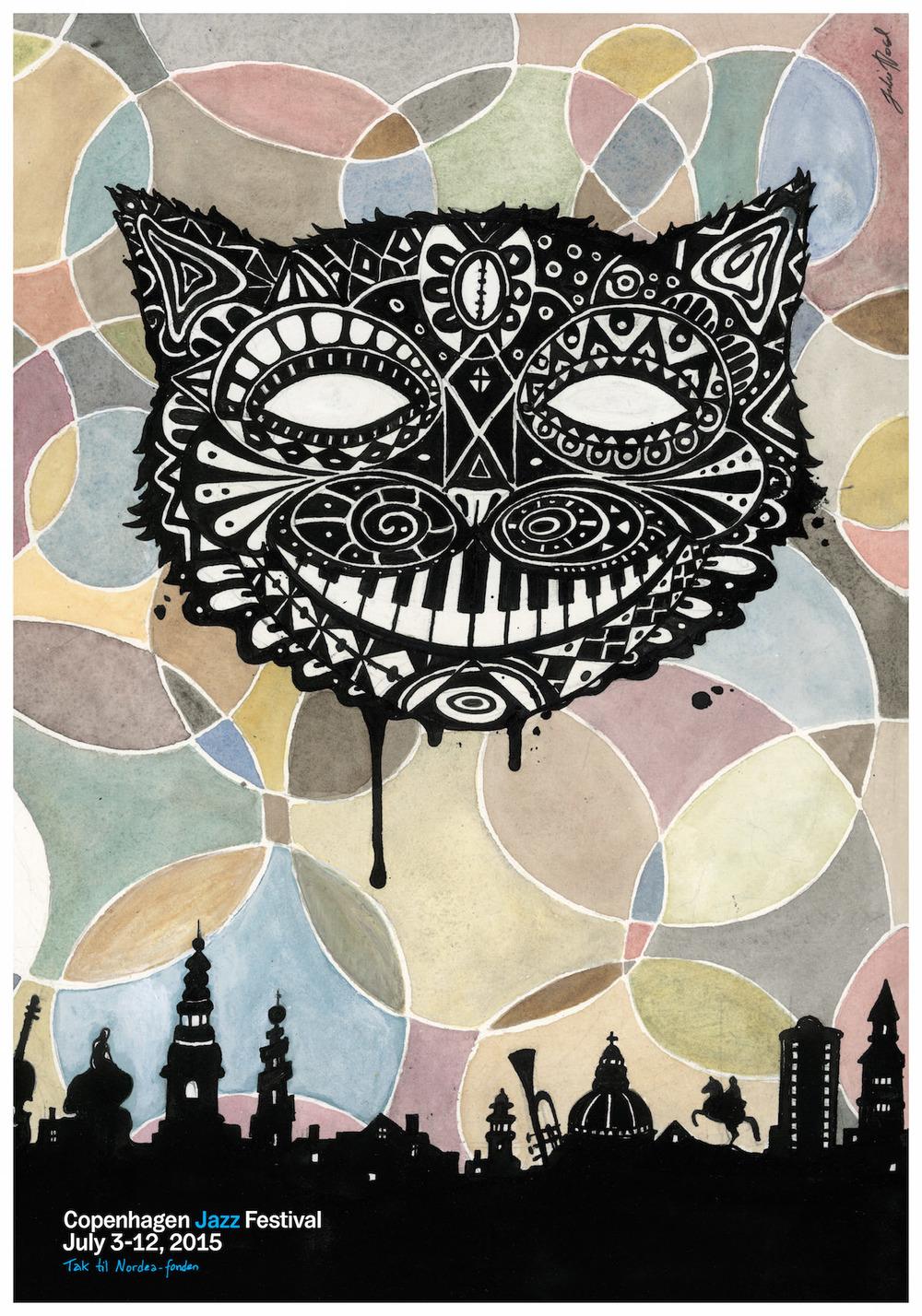 今年的哥本哈根爵士音乐节将在7月3日至7月15日举行,本届的主形象海报设计师是Julie Nord