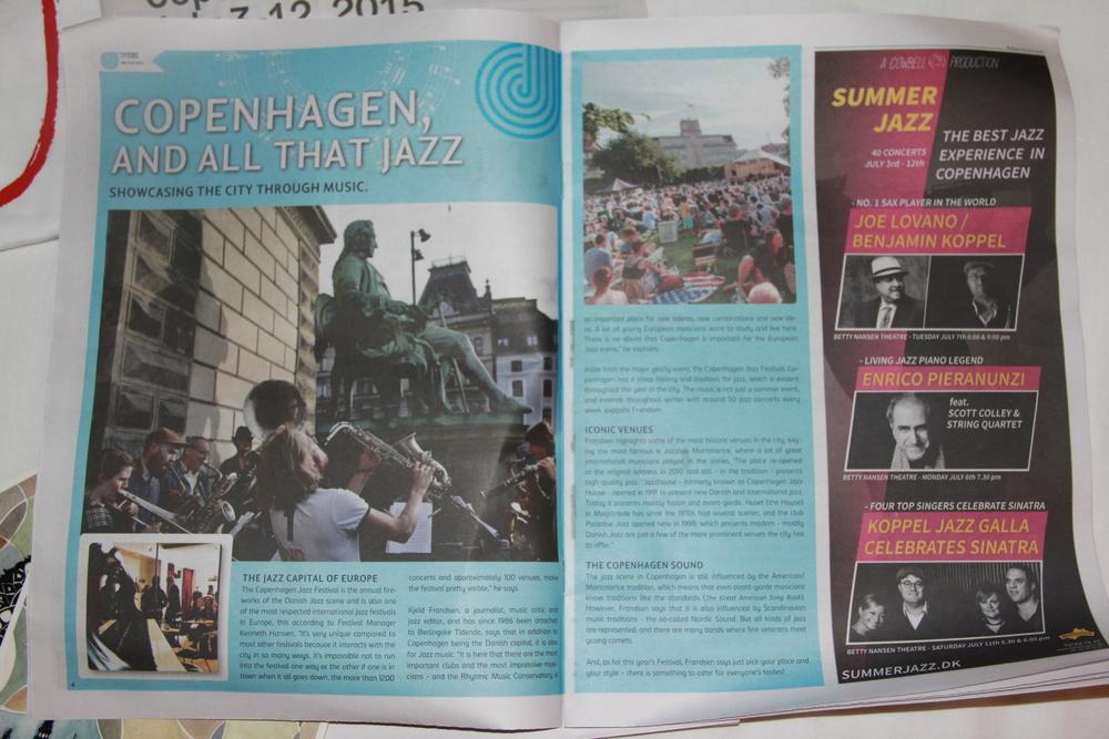 爵士节节目册及卡片,内有音乐节各个单元及推荐演出介绍