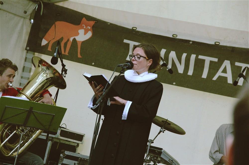 修女时常会上台客串,这或许是Trinitatis Natkirke演出的特色吧
