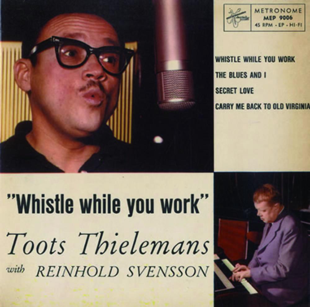 Toots Thielemans 图茨·蒂勒曼斯(1922- ),比利时爵士音乐家、口琴家,图为Toots Thielemans与Reinhold Svensson于1960年出版的EP《Whistle While You Work》