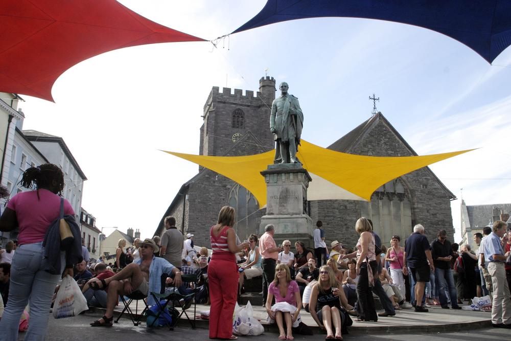 布雷肯爵士音乐节现场。1984年举办第一届,每年八月初在威尔士举行。