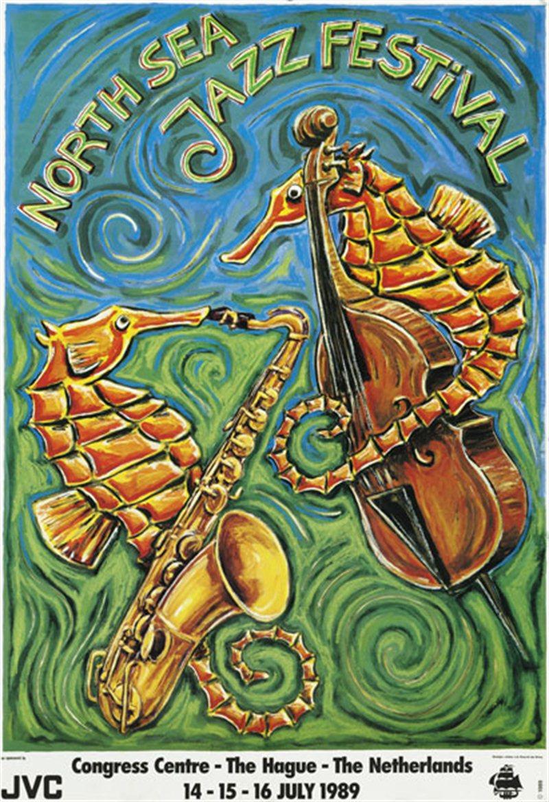 1989年北海爵士音乐节海报。