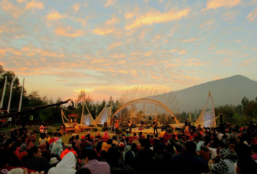 Jazz Gunung音乐节现场。