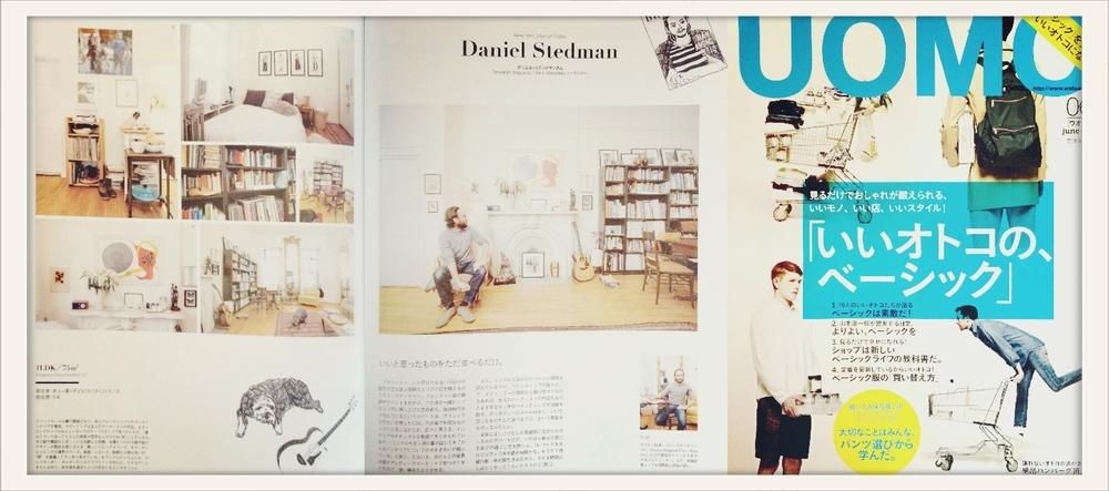 Daniel Stedman home visit in UOMO, Japan