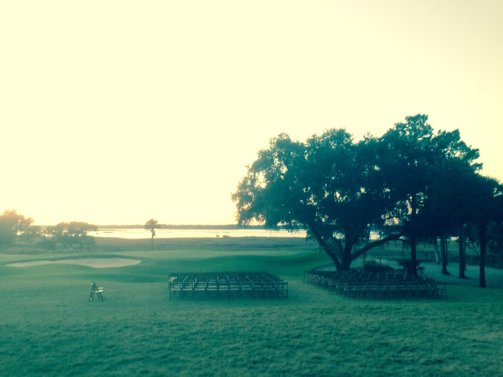 Sun setting at River Course, Kiawah Island, SC