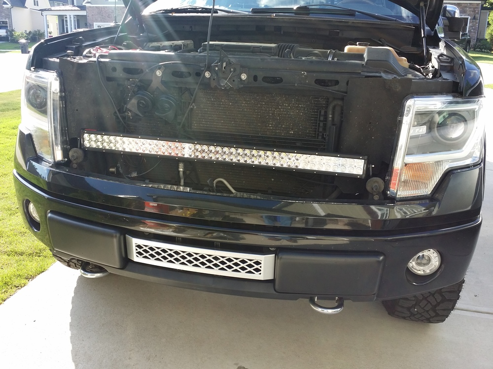 Custom ford f150 led lights f150leds 42 led f 150 grill bar custom ford f150 led lights f150leds 42 led f 150 grill bar w custom mounts harness aloadofball Choice Image