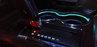 F150LEDs F150 Cup Holder Light Rings Interior Image