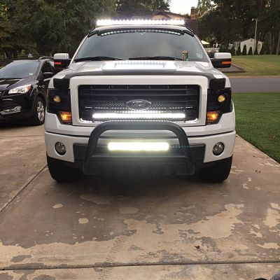 "white f150 with 42"" f150LEDs.com LED Bar"