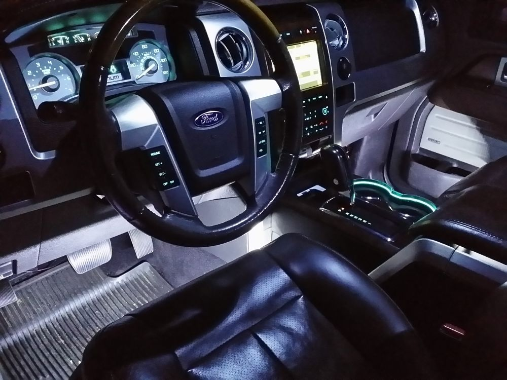 Custom ford f150 led lights f150 led ambient light kit 2007 ford f 150 interior lights