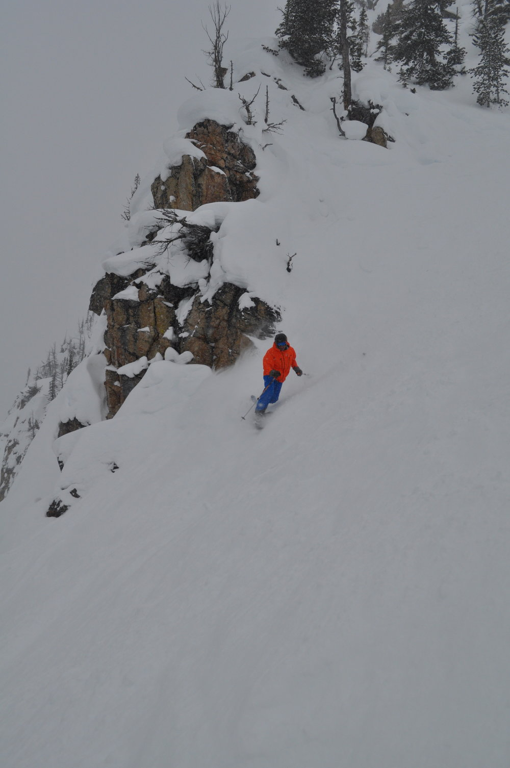 Telemark Skier Jay Krajewski Kicking it at Kicking Horse, British Columbia