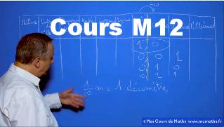 Cours M12 video de maths