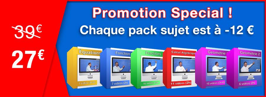 Promotion special hiver chaque pack sujet est à moins 12 euros !!!