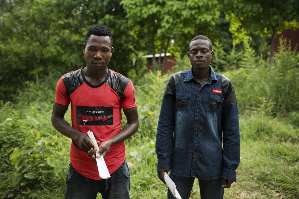 Entrepreneurs Hamidu and Aidan