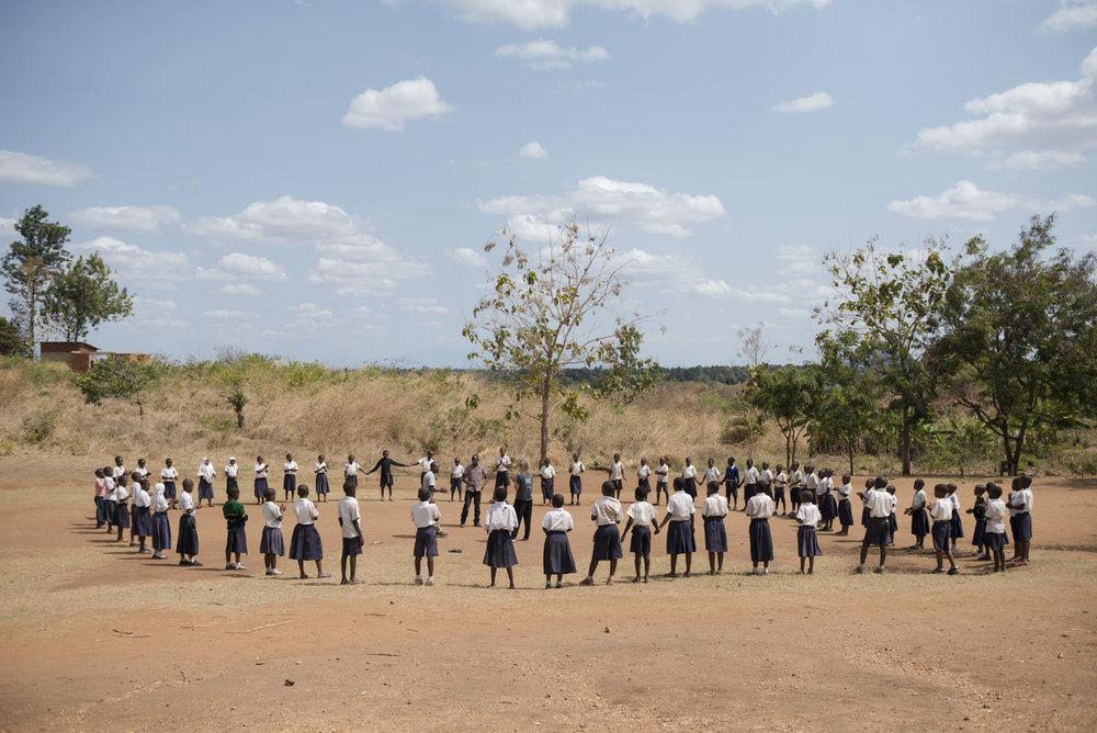 An outdoor WASH class