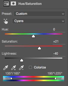 Cyan adjustments