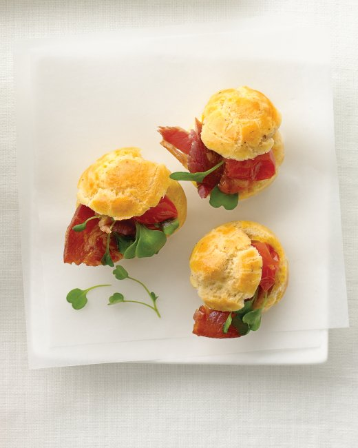 http://www.marthastewartweddings.com/270175/black-pepper-gougeres-pancetta-and-tomato?center=272429&gallery=270234&slide=268782