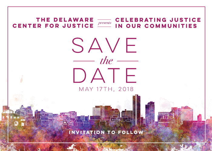Delaware Center for Justice / Social Stylate / Event Save the Date