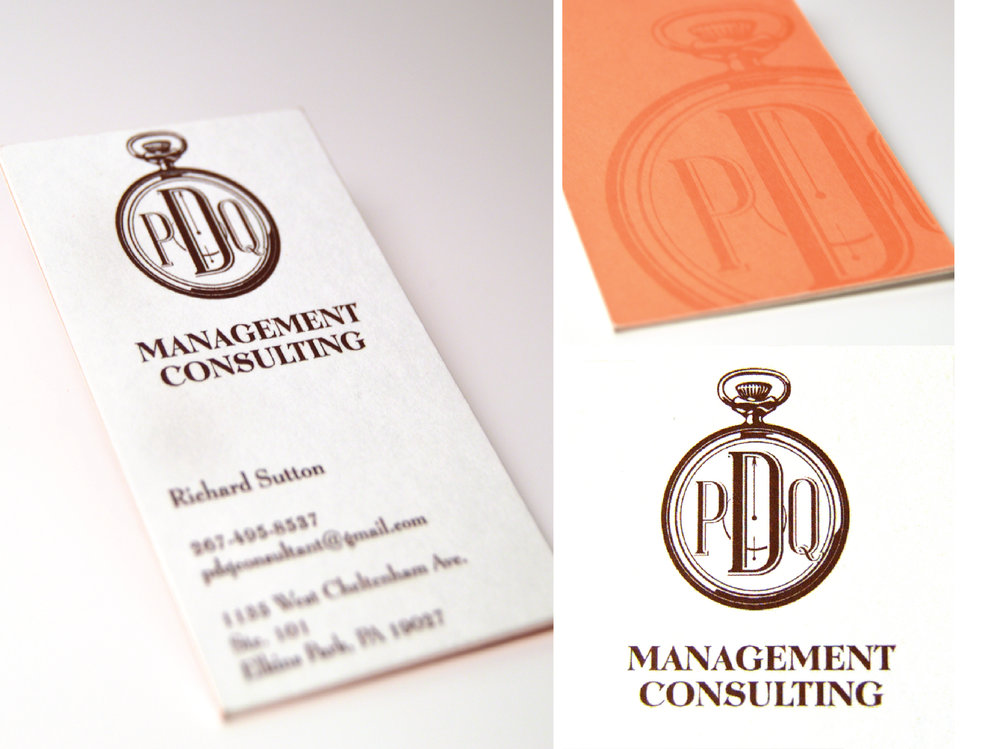 PDQ Management Consulting / Logo + Business Card Design