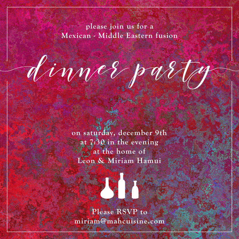 Dinner Party Invitation / Social Stylate