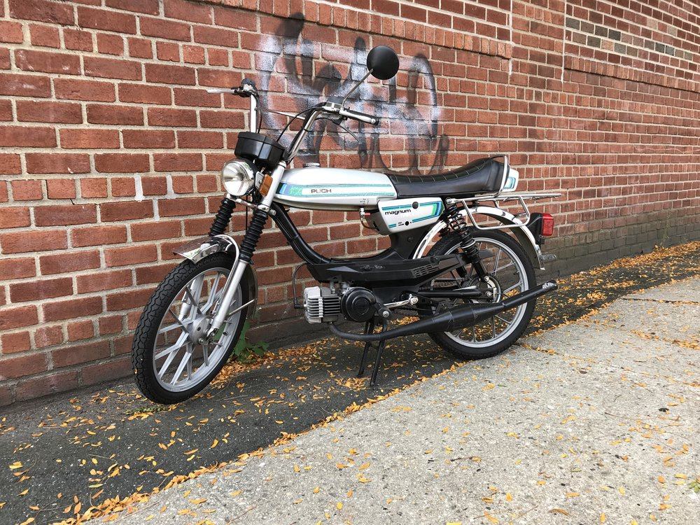 1980 Silver Puch Magnum -Performancekit and upgraded pipe