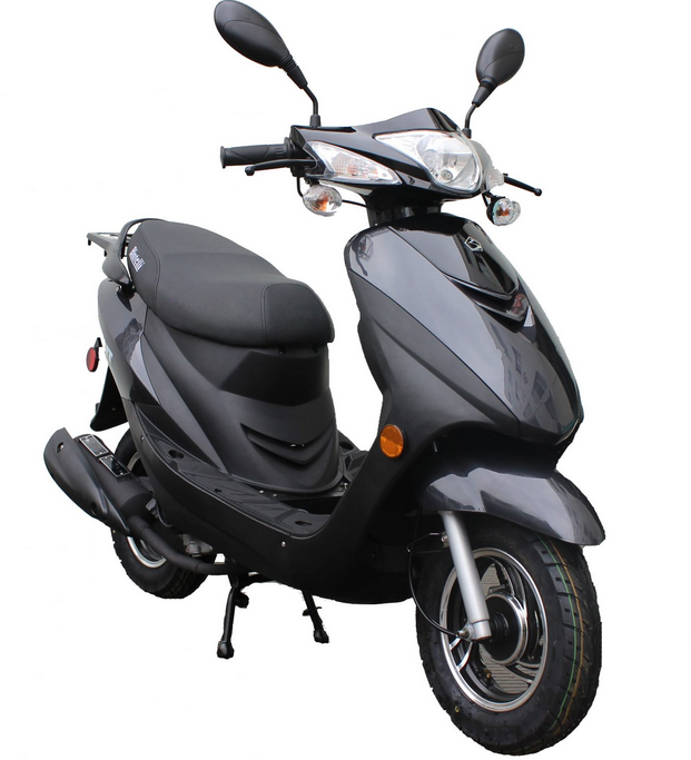 49cc Bintelli Sprint - $1,100The Bintelli Sprint features modern styling and a very attractive price. While being our most affordable model, it still has room for two passengers and is fully loaded!  Only a drivers license is required!