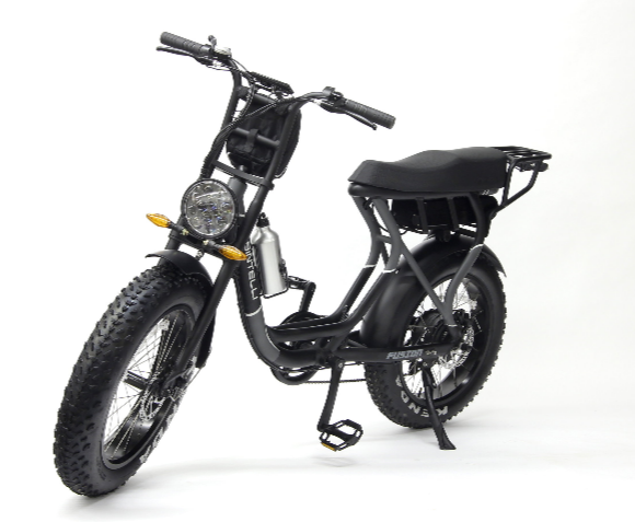 "Bintelli Fusion - $1800 +taxThe Fusion combines everything into one. Part moped, part scooter, part E-bike… the Fusion has the best parts of it all.- 48v 500watt motor- wide 16"" moped tires- lights, turn signals- long seat for twoBUY NOW"