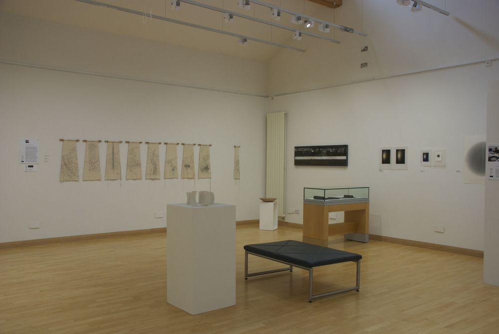 Shadow and Line - Caroline Bartlett on the left wall; Elizabeth Turrell and Linda Brassington on the right.