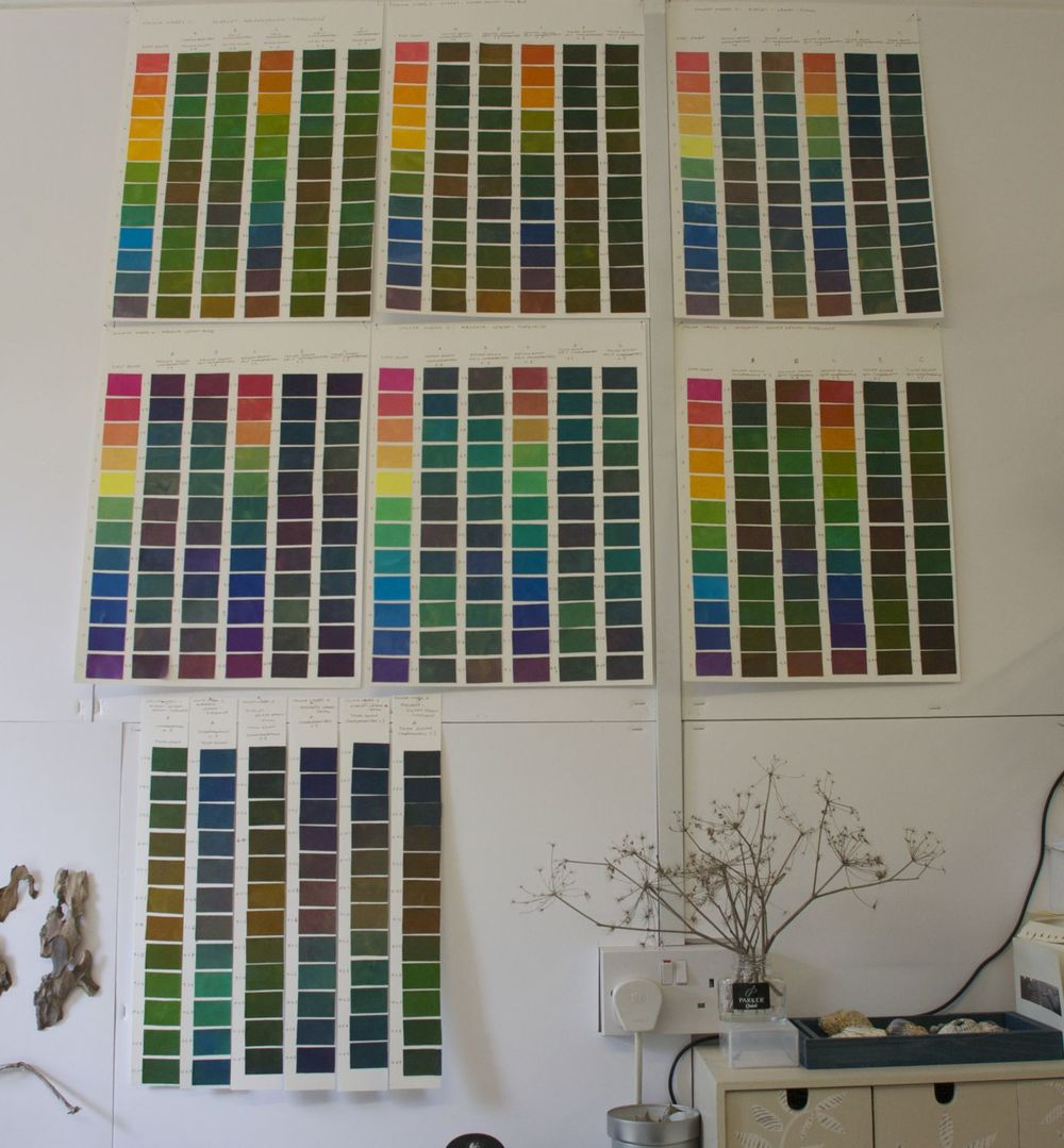 500 colours on my studio wall