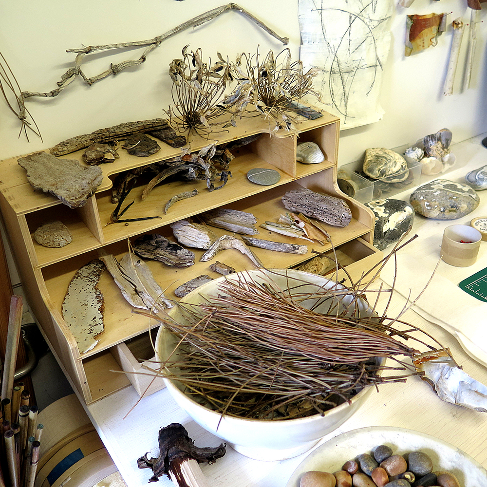 Helen Terry studio found objects 1
