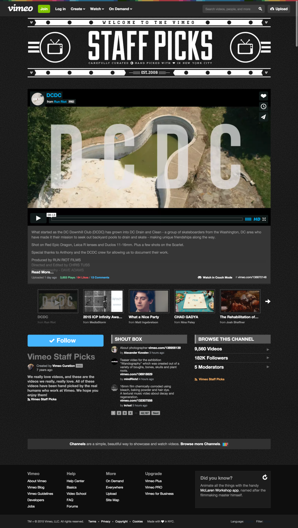 Vimeo Staff Pick_DCDC_Run Riot_August 2015.png