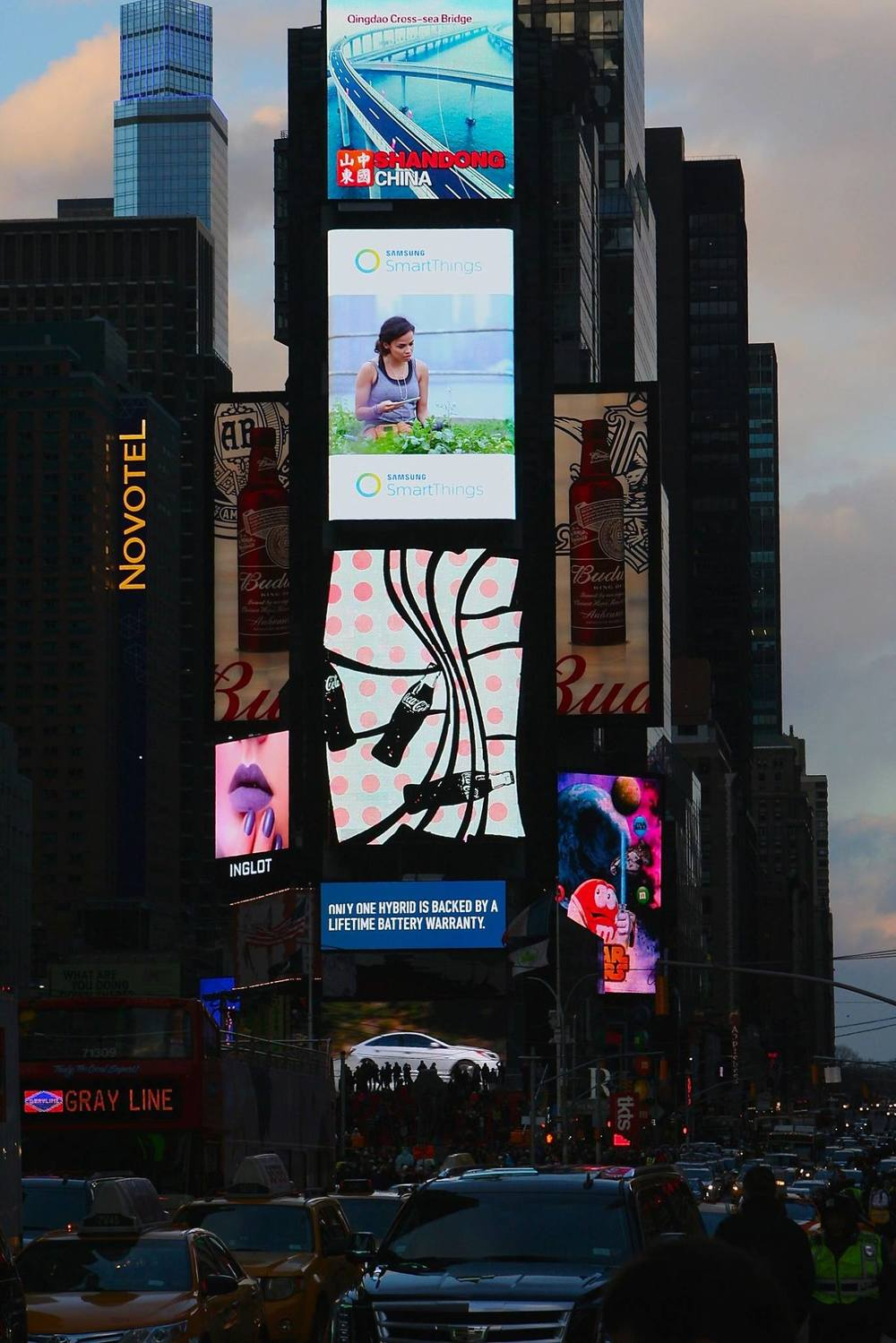 Times Square, January 2016