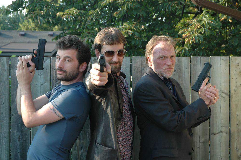 "Isaac Visaretis, Leon Bearman & Brian Scott do their best ""Angles"" imitation"