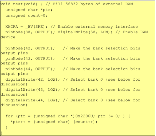 Here Is An Example That Shows How To Fill This 56 Kilobyte Region With Increasing Sequence Of 8 Bit Numbers