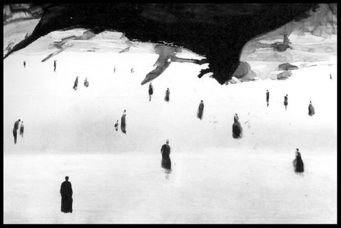 La pintura de arriba es La Fin Du Monde del artista Gao Xingjian (2007)