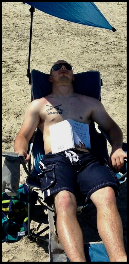On vacation soon after leaving Active Duty (August 2013). Fewer tattoos back then!