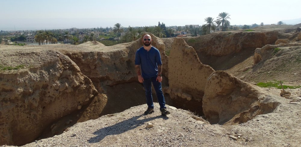 Behind me is the very first wall man ever built (early Bronze Age).