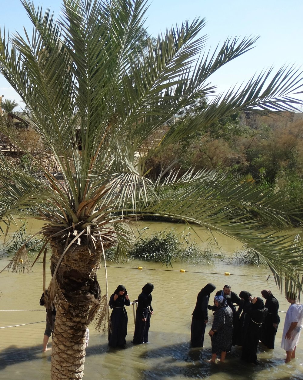 The Jordan River, where Christians believe Jesus was baptized.