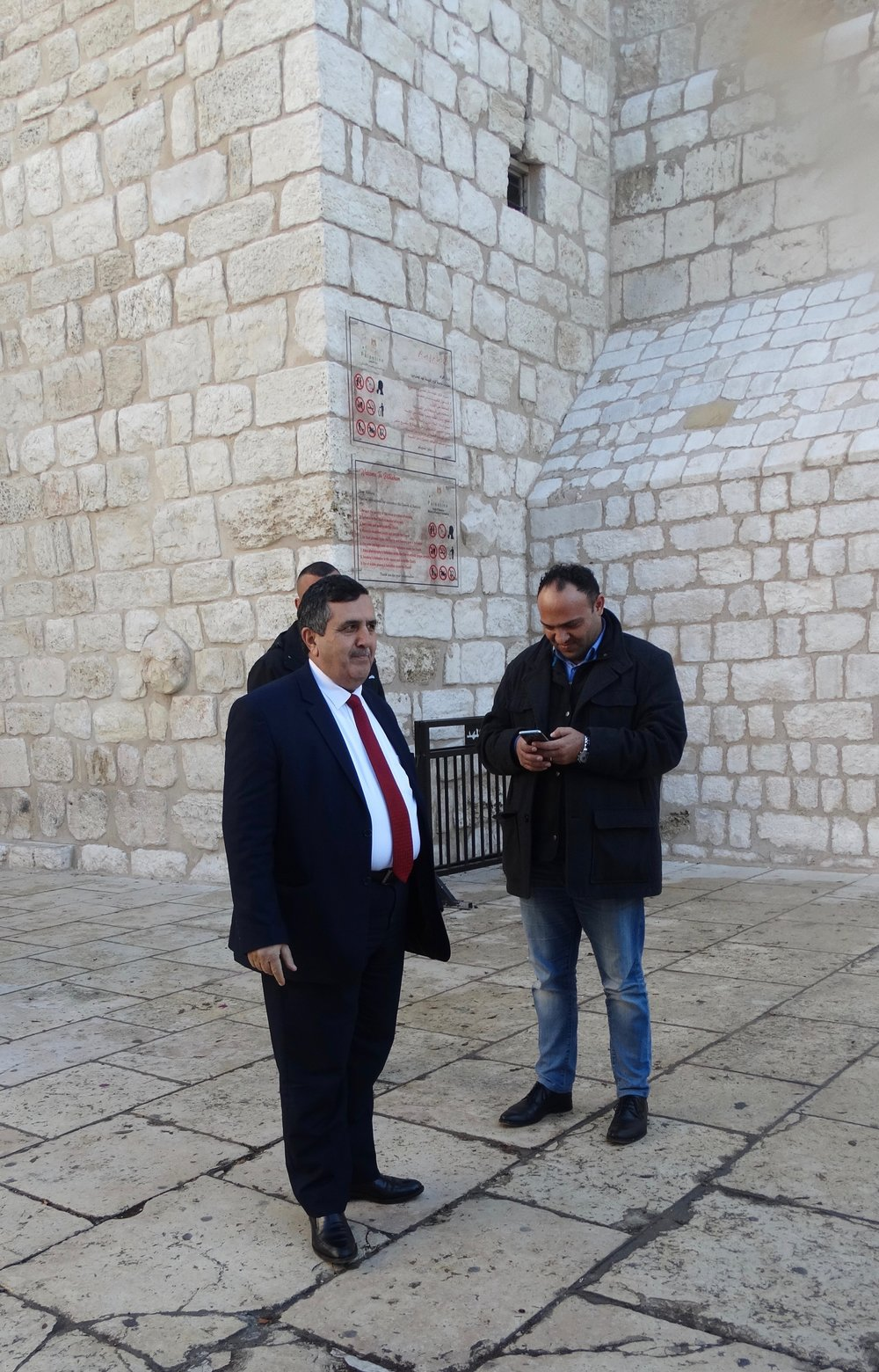 "Bumped into Anton Salman, the Mayor of Bethlehem, at the end of the trip and spoke to him about what the prospects were for a two-state solution. His response, more or less, was ""Bleak."""