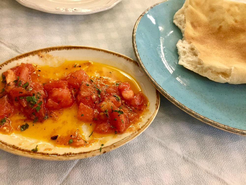 This simple tomato sauce with herbs was simply divine.