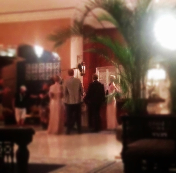 Hugh Laurie (right) Filming scene from The Night Manager