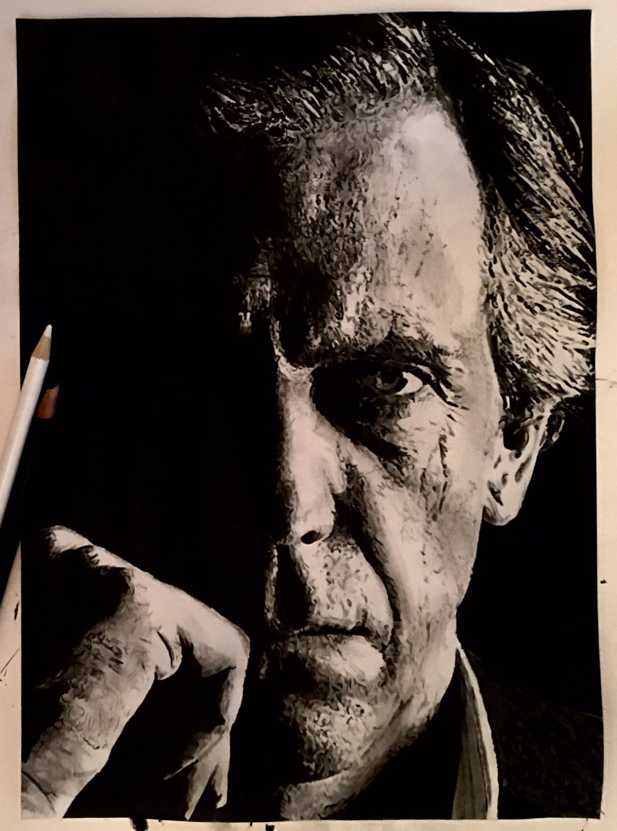 """harry finch  @ finchysfingers    MANY THANKS TO HARRY FINCH WHO GAVE US PERMISSION TO PLACE HIS WONDERFUL DRAWING OF HUGH LAURIE AS Chance on our site. We think it's amazing.  Here's what Mr. Finch wrote: """"My  # drawing   of  # HughLaurie    @ hughlaurie   from his new  # tv   series  # chance   have a good evening and sleep well all of you"""""""
