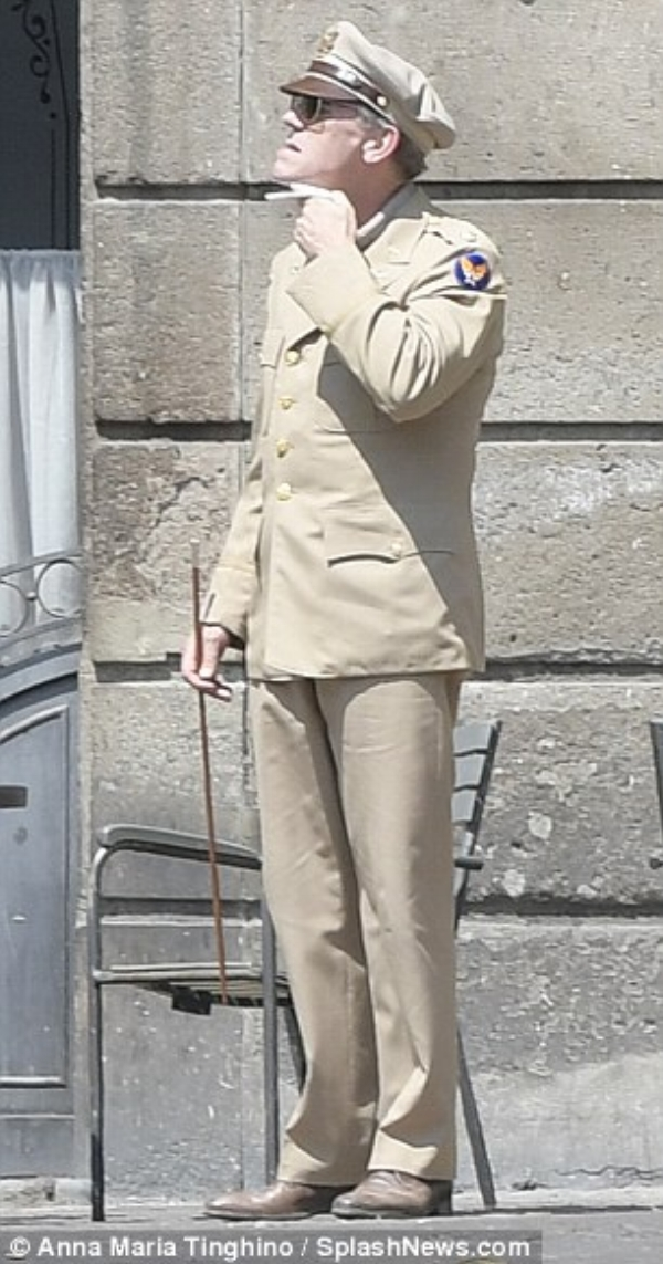 Check him out: The House star made a convincing transformation into his character as he donned the specialised beige uniform, hat and smart brown brogues