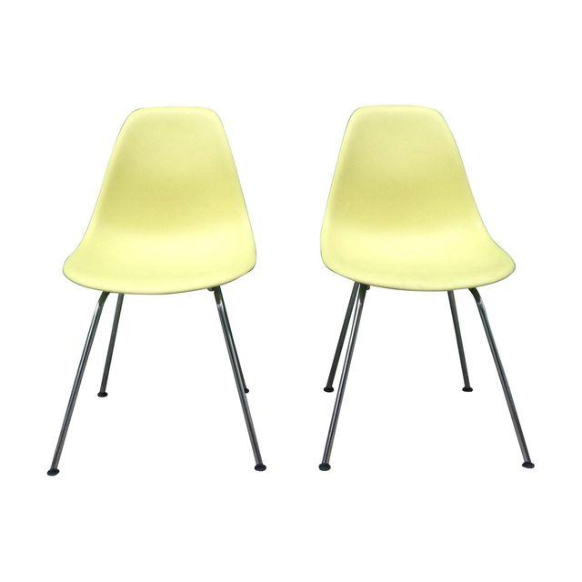 Pair of Herman Miller Plastic Side Chairs