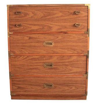 Tall Vintage Campaign Dresser