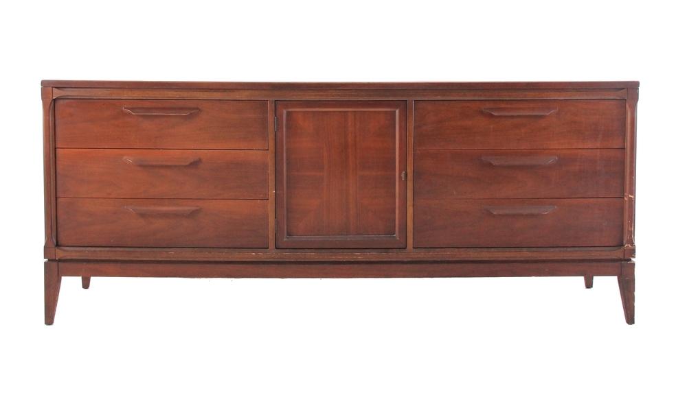 Long Vintage Bassett Dresser / Credenza