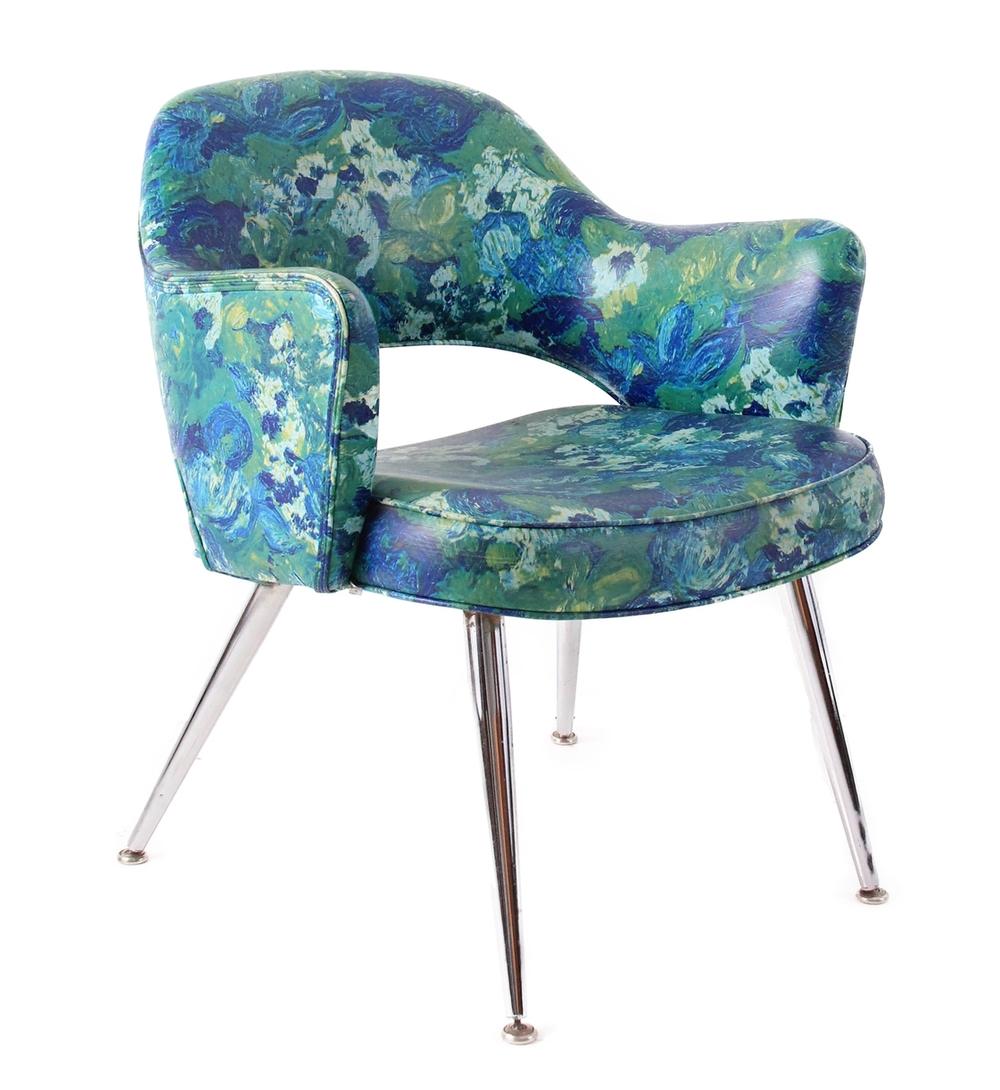 Vintage Mid Century Modern Vinyl Chair