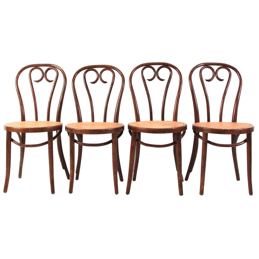 Set of 4 Vintage Original Bentwood Dining Chairs