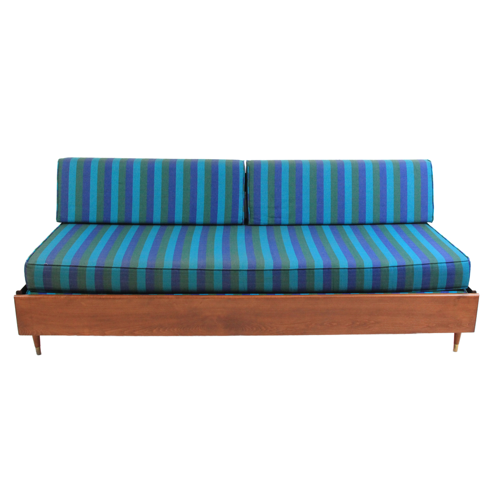 Vintage Mid Century Modern Trundle Day Bed