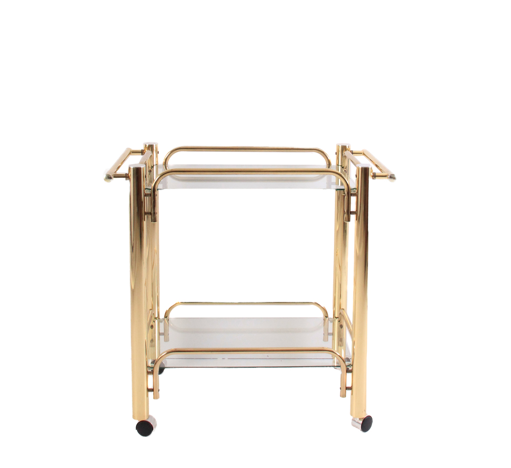 Vintage Art Deco Gold Bart Cart